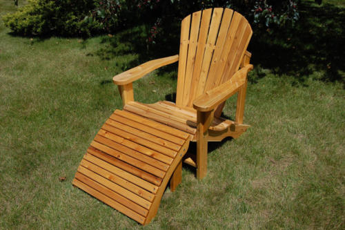 Adirondack Chair with Stool