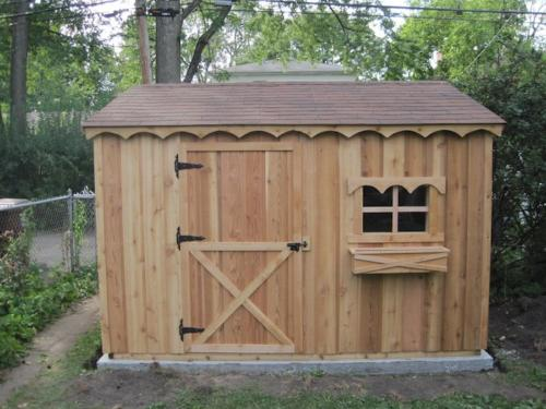 Cedar Wood Chalet Style Shed