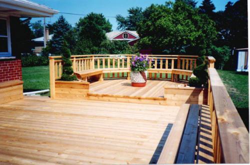 Custom Railing and Two Level Deck