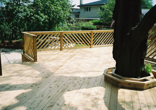 Custom Wood Deck and Stairs in Niles