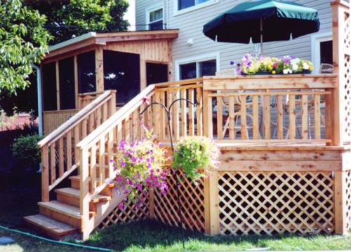 Custom Wood Deck and Gazebo