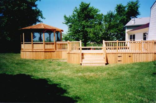 Custom-built Gazebo and Deck