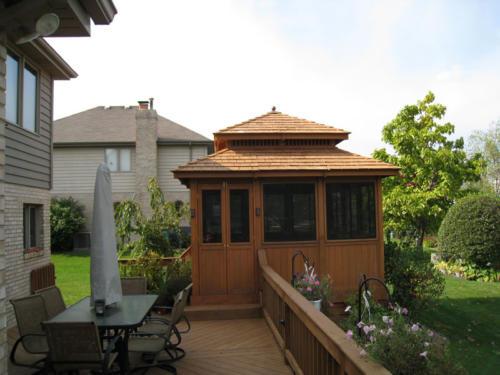 Wood Deck and Gazebo