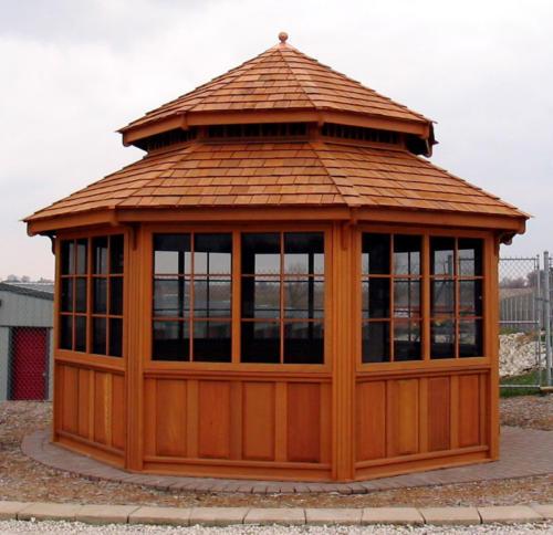 Large Wood Gazebo - Custom Design