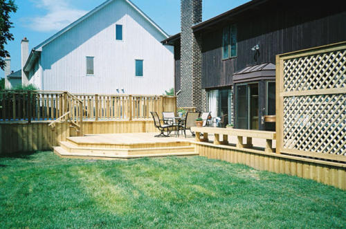 Custom-built Trellis, Stairs & Deck