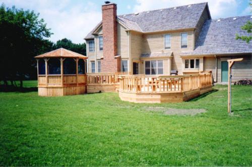 Rustic Fences Custom Built Gazebo and Deck