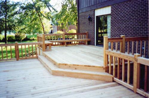 Two Level Custom Wood Deck in Niles