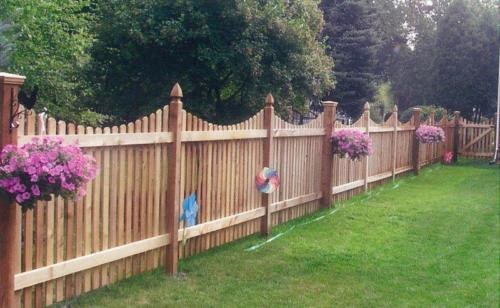 Scalloped Dog Ear Picket with French Gothic Posts