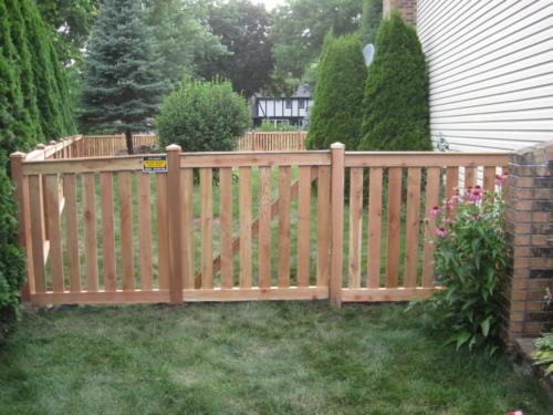 Spaced Traditional Picket Fence